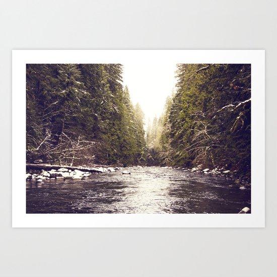 Divinity on the Salmon River Art Print