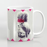 bow Mugs featuring Squirrel & Bow by SUNLIGHT STUDIOS  Monika Strigel
