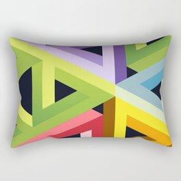 Triangular Revolution Rectangular Pillow