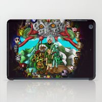 majoras mask iPad Cases featuring Majoras mask by Rowena White