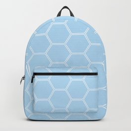 Geometric Honeycomb Pattern - Light Blue #304 Backpack