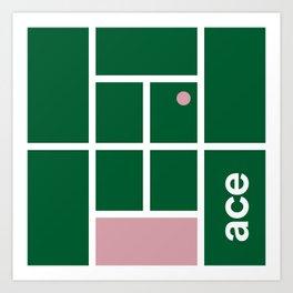 Minimal Tennis Ace Art Print