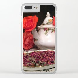 Old Country Roses Set Clear iPhone Case