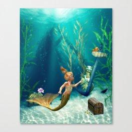 Cute Mermaid 2 Canvas Print