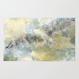 Vanishing Seagull Rug
