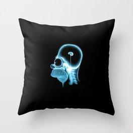 Homer Brain Throw Pillow