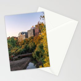 Minneapolis in Autumn-Nature and Architecture Stationery Cards