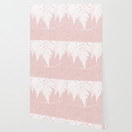 Fern fringe - pink concrete Wallpaper
