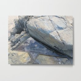 Triangular Rock-Pool Metal Print