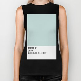 colorblock blue white Biker Tank