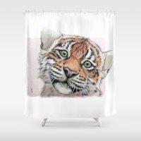 Tiger Cub 887 Shower Curtain