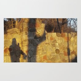 Just a shadow of ourselves - a walk with my dog, Madison, WI USA Rug
