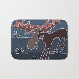 Blue Mountain Moose Bath Mat