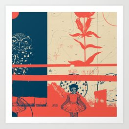 Exploration Fragments Tile 8/12 Art Print