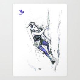 Cool Capricorn Art Print