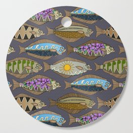 Alaskan halibut dusk Cutting Board