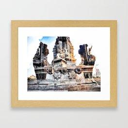 carve out inconvenient caveats Framed Art Print