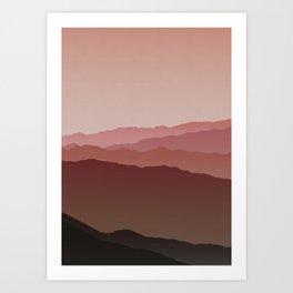 Misty Mountain Pink Art Print