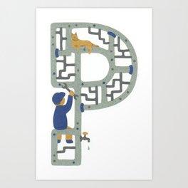 P as Plumber Art Print