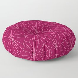 Art Deco in Raspberry Pink Floor Pillow