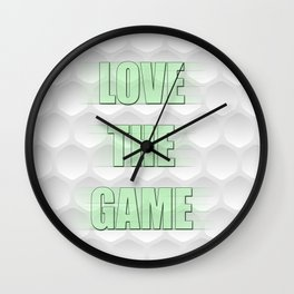 Love the Game Golfball Designed by LGD Wall Clock