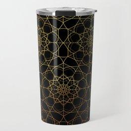 Gold mandala vector pattern Travel Mug