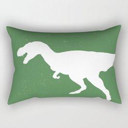 T- Rex Dinosaur Emerald Green  Rectangular Pillow