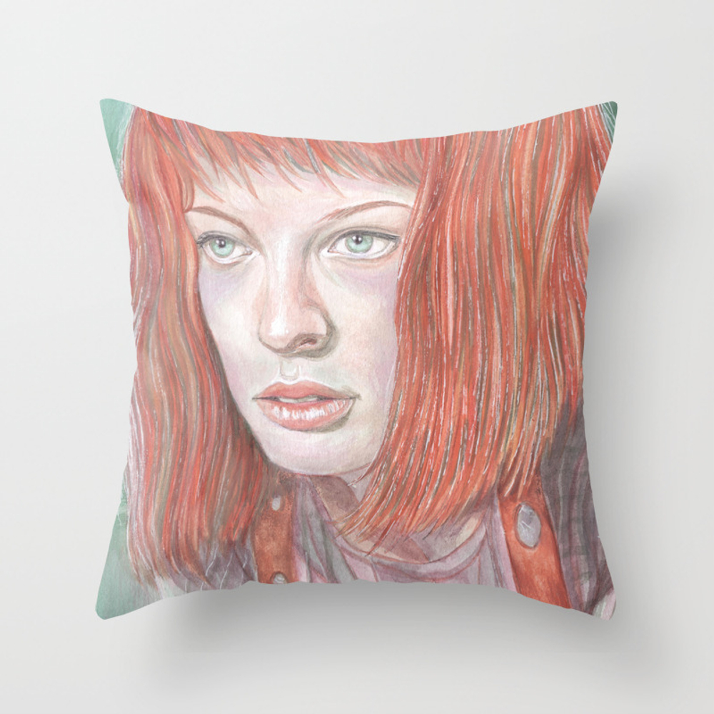 Leeloo - The Fifth Element Throw Pillow by Breakthemouldb3 PLW8817740