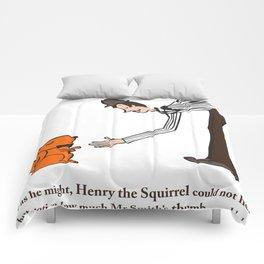Henry the Squirrel's a Gentleman Comforters