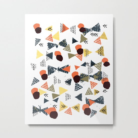 Laange - texture brushstroke art abstract painting print stamp free spirit hipster festival  Metal Print