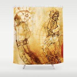Da Dance Code Shower Curtain