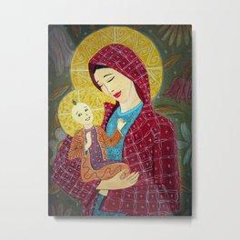 Madonna with Child Metal Print