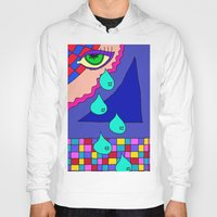 blankets Hoodies featuring Abstract 34 by Linda Tomei