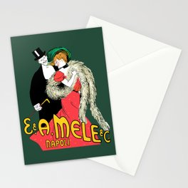 Mele Napoli Italian belle epoque ladies fashion Stationery Cards