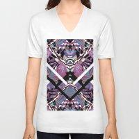 geo V-neck T-shirts featuring Geo  by Elena Belokrinitski