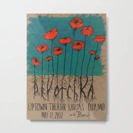 Devotchka Poppies Metal Print