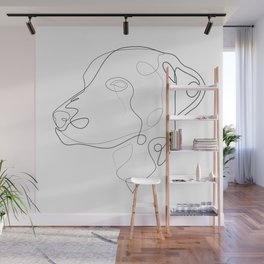 Dalmatian - one line drawing Wall Mural