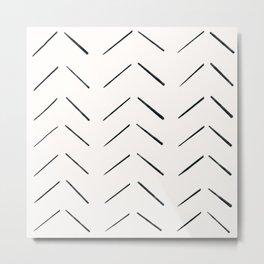 MOD_BrokenArrowsLight_Charcoal Metal Print