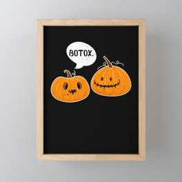 Pumpkins With A Facelift for Pumpkie Pie Lover Framed Mini Art Print