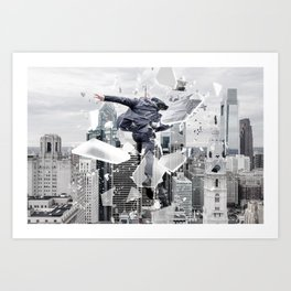 The One Who Jumps Art Print