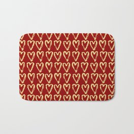 Hearts Of Gold Bath Mat