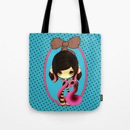 Pretty Goth Dragoness Tote Bag
