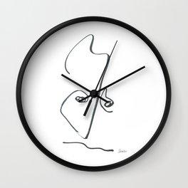 Demeter Moji d6 3-2 w Wall Clock