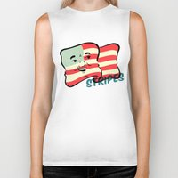stripes Biker Tanks featuring Stripes by Derek Eads