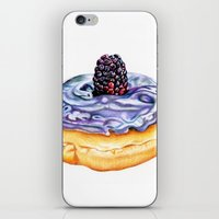 donut iPhone & iPod Skins featuring Donut by Amber-1107studio