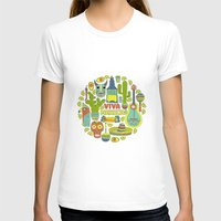 mexico T-shirts featuring Viva Mexico by Favete Art