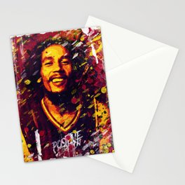 B O B Marley   Pop Art   Old School Collection Stationery Cards