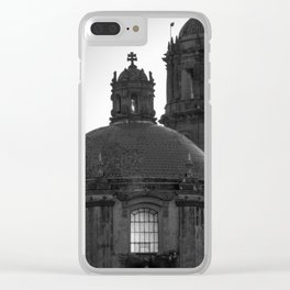 Dome black & white Clear iPhone Case