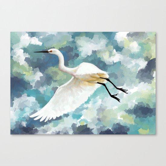 Florida Egret Canvas Print