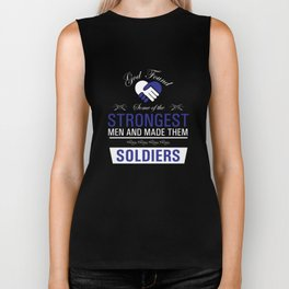 Strongest Men are Soldiers Uplifting T-shirt Biker Tank